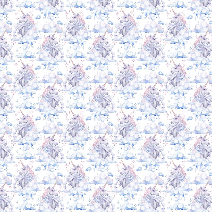 Cute Watercolor Unicorn Vinyl Wallpaper
