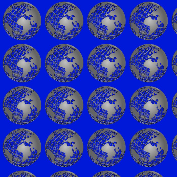 Vinylová Tapeta Weltkugel - gitter - Meziplanetární prostor