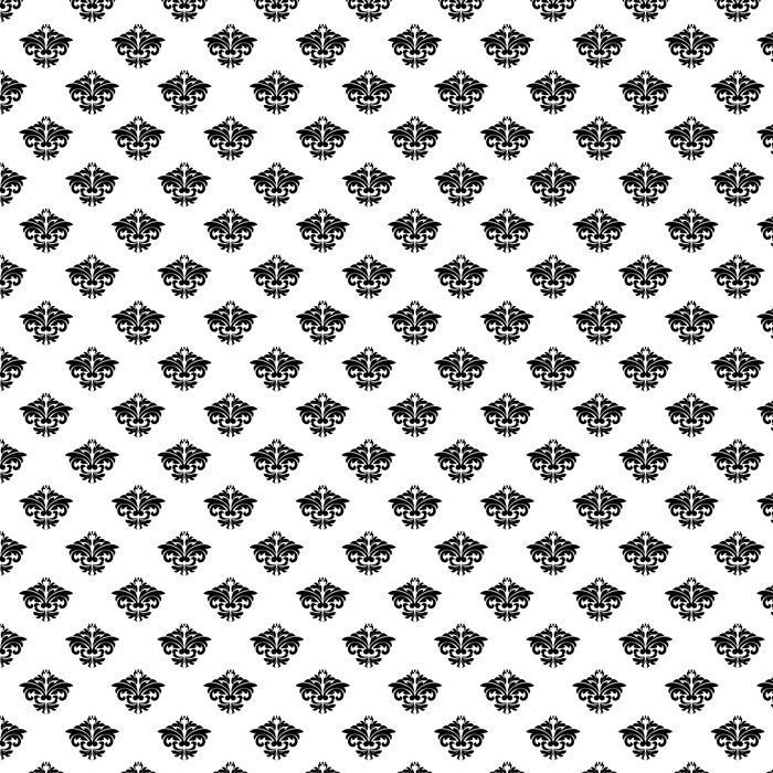 Vinylová Tapeta Květinové motivy v opakování bezproblémové damaškové vzorek - Pozadí
