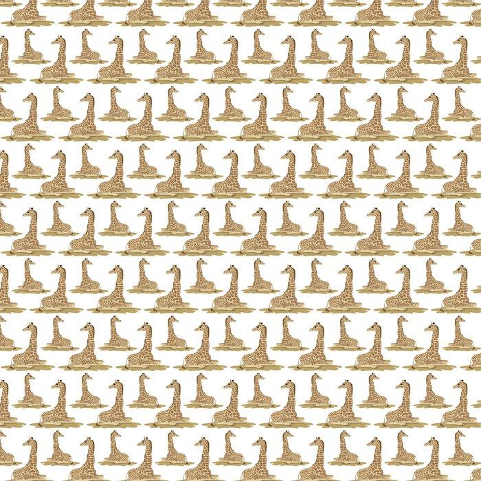 Papel Pintado Patrón sin costuras jirafa • Pixers® - Vivimos para ...