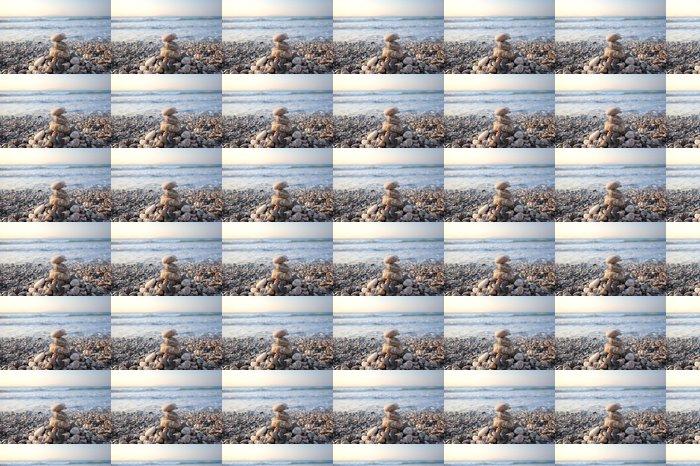 Vinylová Tapeta Pyramida z kamenů, na pobřeží moře - Egejské moře - Rhodos - Prázdniny