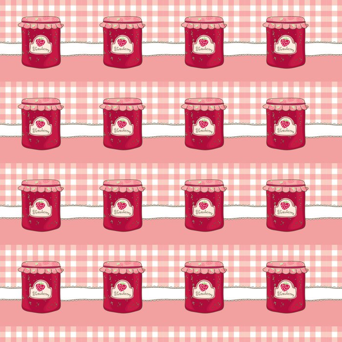 delicious homemade strawberry jam Vinyl Wallpaper - Themes