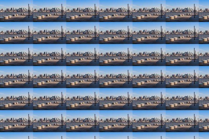 Vinylová Tapeta New York - Manhattan panorama pohled z Hoboken nábřeží - Americká města