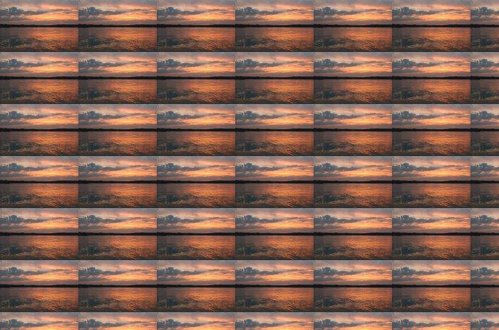 Vinylová Tapeta Sonnenuntergang am Chiemsee - Voda
