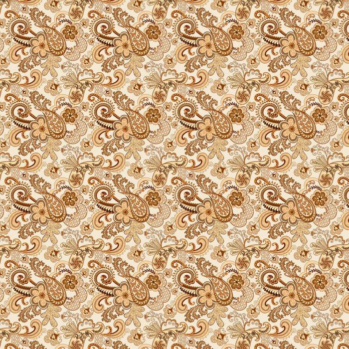 Vinylová Tapeta Béžová hnědá bordó zdobené prolamované vzor - Styly