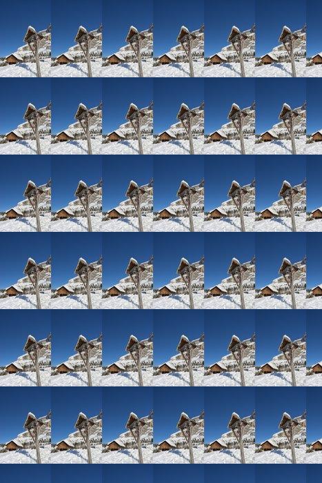 Vinylová Tapeta Kříž na vysoké hoře - Hory