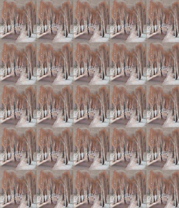 Vinylová Tapeta Park v zimě - Témata
