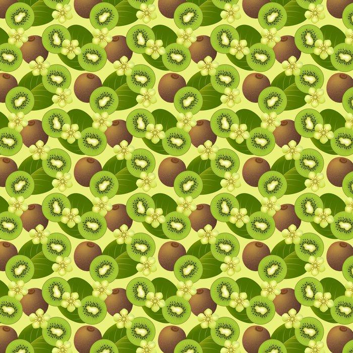 Vinylová Tapeta Ovocná bezešvé vzor s kiwi - Jídla