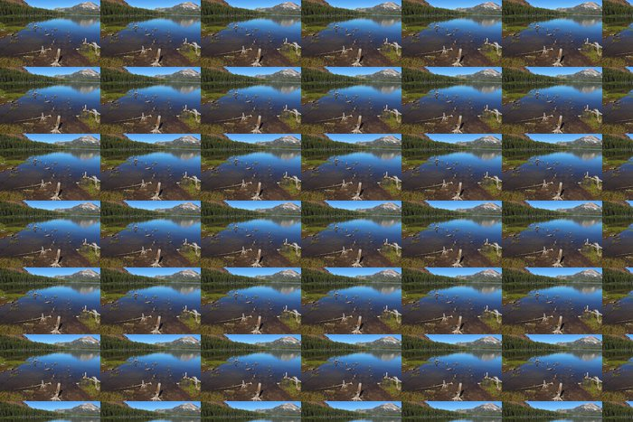 Vinylová Tapeta Tiché jezero v horách - Roční období