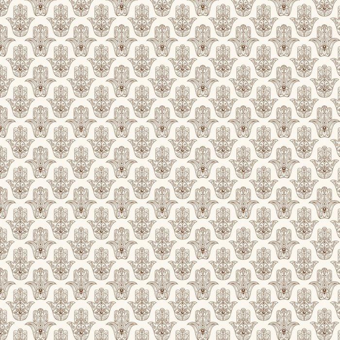 Hamsa Symbol Seamless Pattern Vinyl Wallpaper