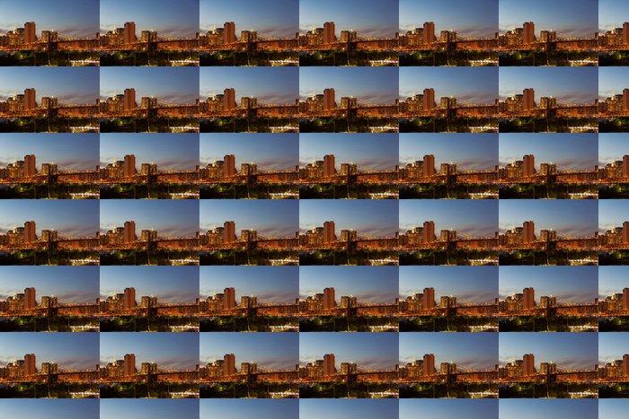 Vinylová Tapeta Brooklyn Bridge za soumraku - Brooklynský Most