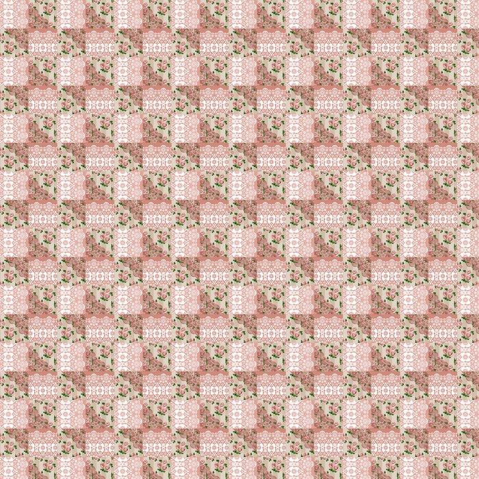 Vinylová Tapeta Patchwork bezproblémové krajka květinovým vzorem - Pozadí