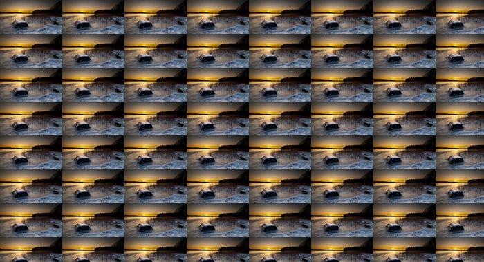 Vinylová Tapeta Loď na jezeře - Voda