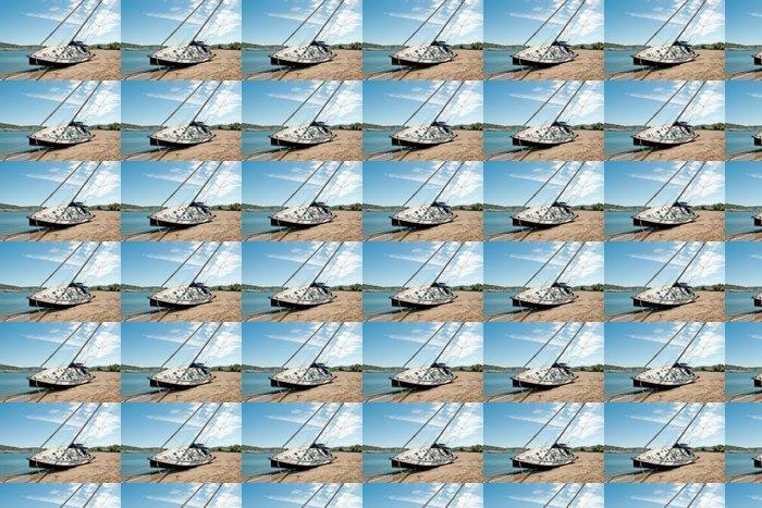 Vinylová Tapeta Plachetnice na pláži 3 - Přírodní katastrofy