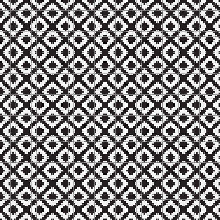 tapete schwarz wei optische tuschung vektornahtloses muster - Tapete Schwarz Weis Muster