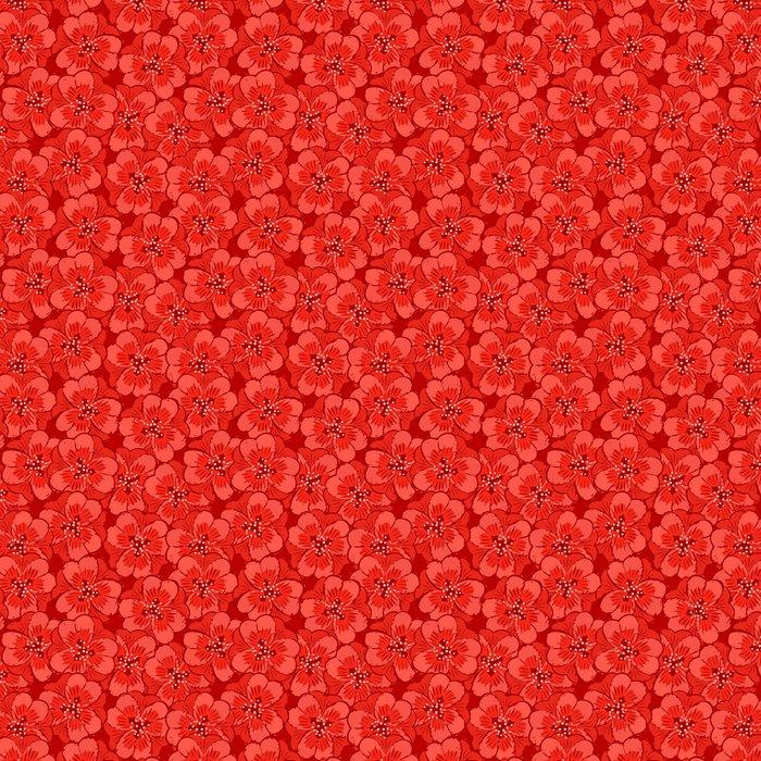 Vinylová Tapeta Abstraktní červené květy bezproblémové vzorek - Květiny