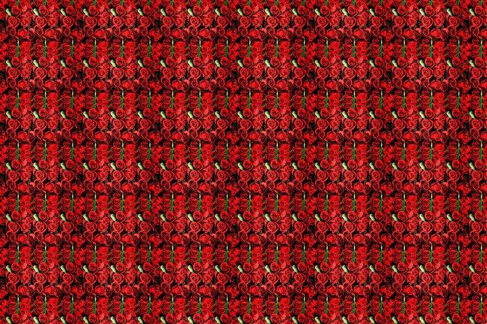 Vinylová Tapeta Pozadí z červených růží symbolických lásky - Pozadí