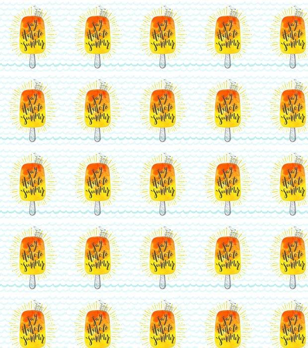 Vinylová Tapeta Letní prázdniny ručně kreslenými vektorové ilustrace štětcem kaligrafií - Koníčky a volný čas