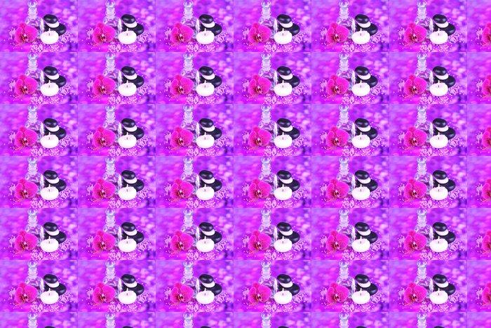 Vinylová Tapeta Spa olej s orchidejí na fialovém pozadí - Květiny