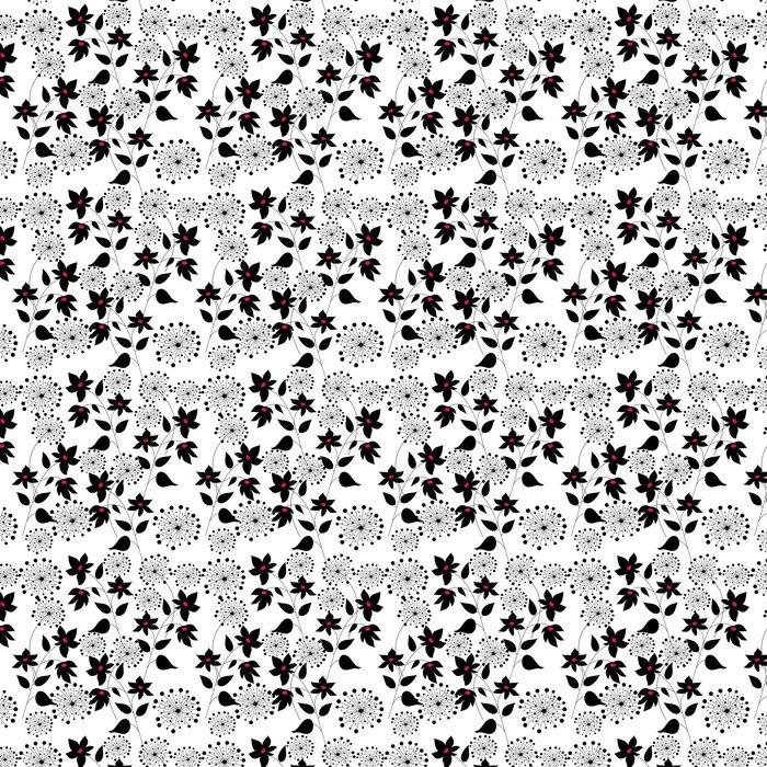 Vinylová Tapeta Vzor s květinami grafické kvality - Slavnosti