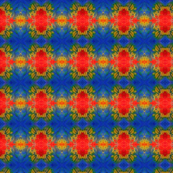 Vinylová Tapeta Scarlet papoušek peří - Struktury