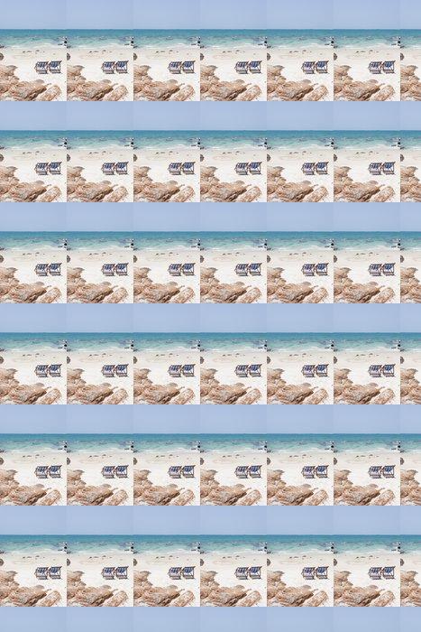 Vinylová Tapeta Plážové křeslo na bílém písku - Prázdniny