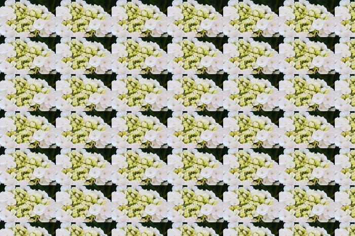 Vinylová Tapeta Detailní záběr na nadějný a bílé kvetoucí Hydrangea - Květiny