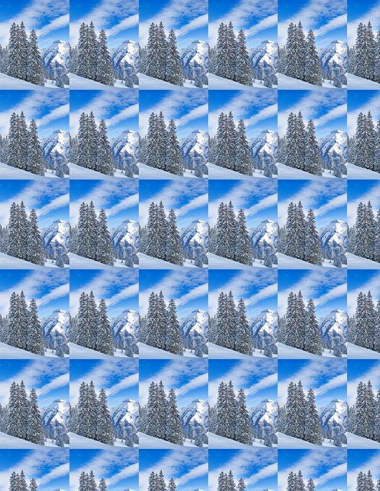 Vinylová Tapeta Zima v Alpách - Evropa