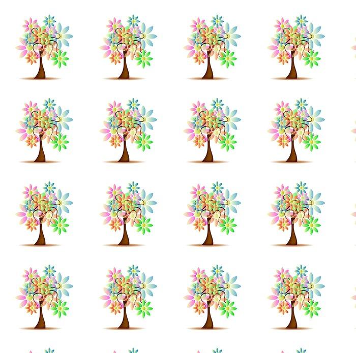 Vinylová Tapeta Strom s sedmikrásky - Roční období