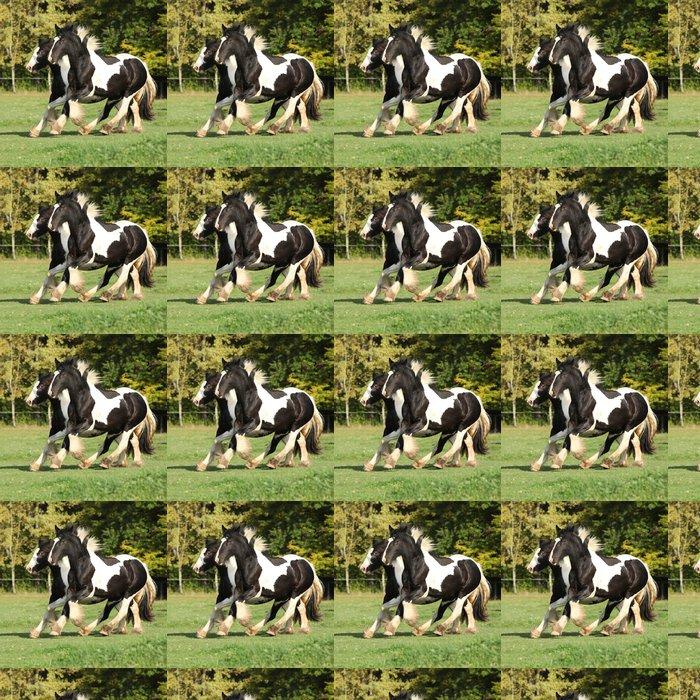 Vinylová Tapeta Dva koně běží na pastvu - Savci