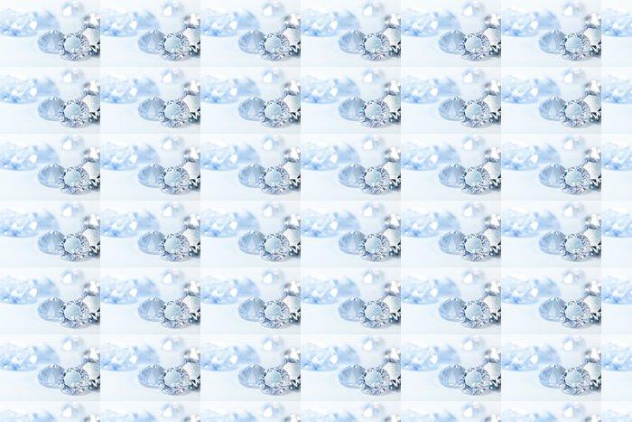 Vinylová Tapeta Bílé diamanty na modrém pozadí - Prvky podnikání