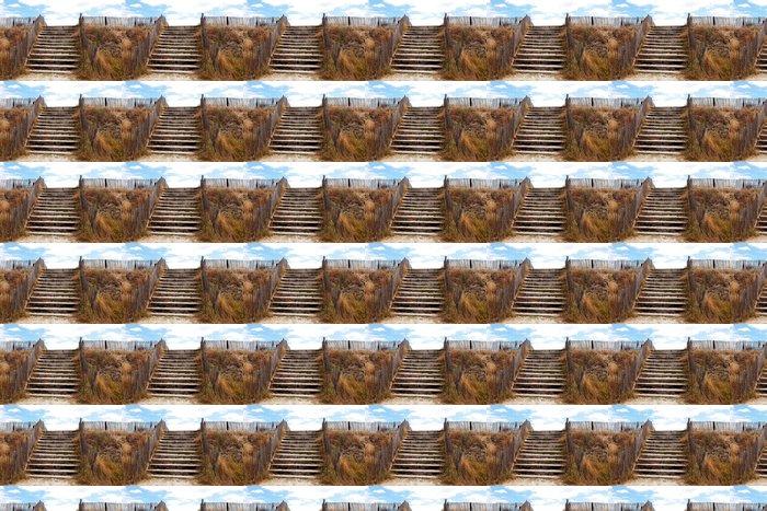 Vinylová Tapeta Přístup na pláž přes ochranné duny - Voda