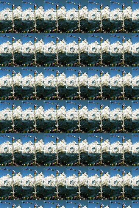 Vinylová Tapeta Pohled na Everest z Gokyo ri s modlitební praporky - Témata