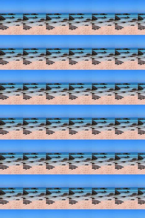 Vinylová Tapeta Růžová písečná pláž s křišťálově čisté vody Elafonísi Krétu - Prázdniny