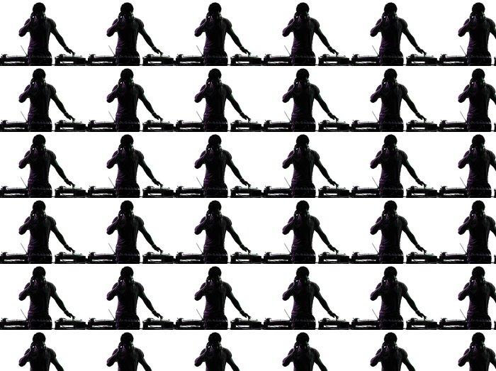 Vinylová Tapeta Disc jockey muž silueta - Nálepka na stěny