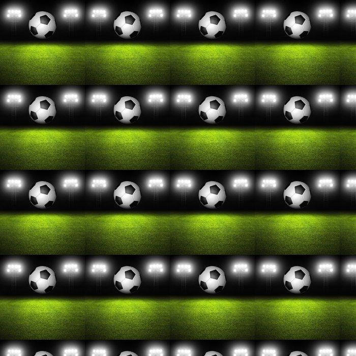 Vinylová Tapeta Fotbalový míč na pole - Sportovní potřeby