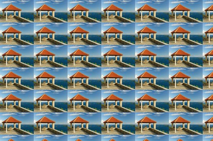 Vinylová Tapeta Red střešní terasa - Evropa