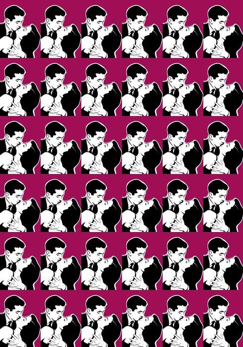 Vinylová Tapeta Portrét okouzlující pár polibek -