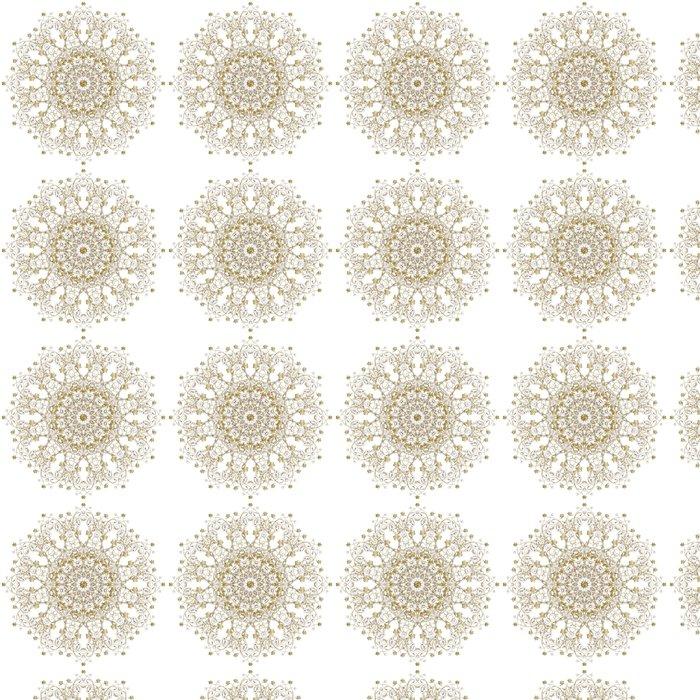 Vinylová Tapeta Dekorativní zlato a rám s vintage kulatými vzory na bílém. - Pozadí