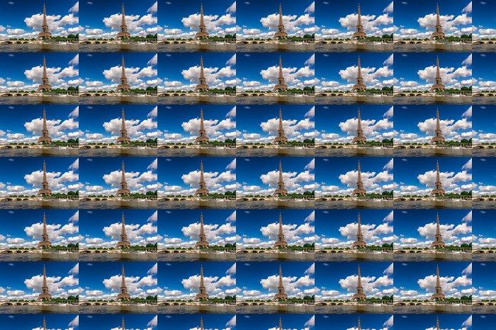 Vinylová Tapeta Eiffelova věž a řeku Seine v Paříži, Francie - Témata