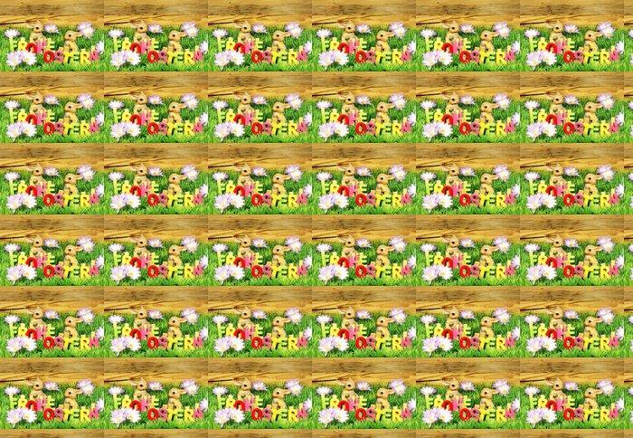 Vinylová Tapeta Veselé Velikonoce - Velikonoční dekorace s písmeny - Mezinárodní svátky