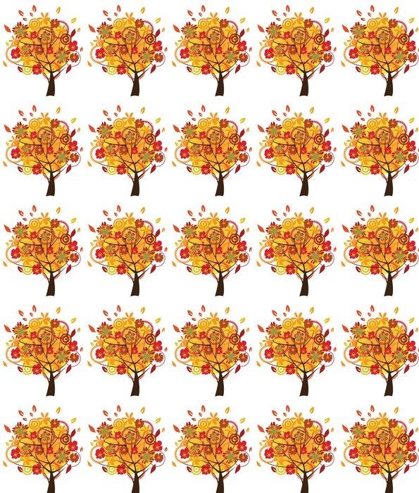 Vinylová Tapeta Květinový strom na podzim - Stromy