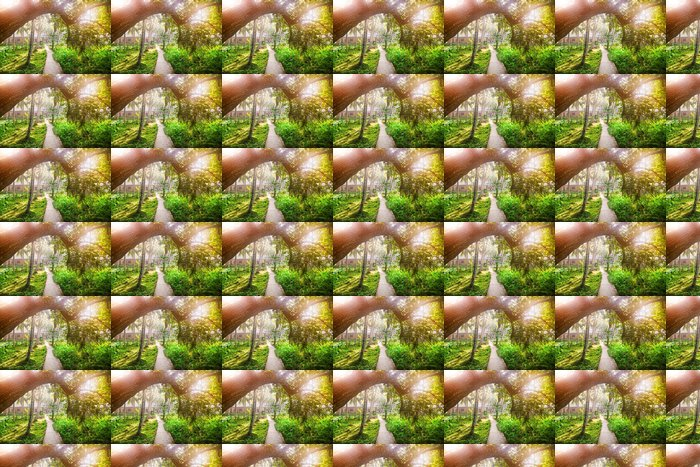 Vinylová Tapeta Tropické vesnice - Asie