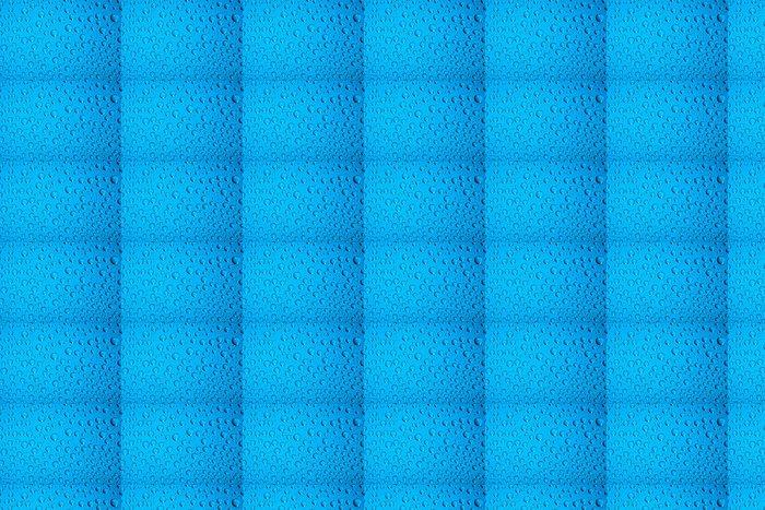 Vinylová Tapeta Kapky vody na modré - Jídla