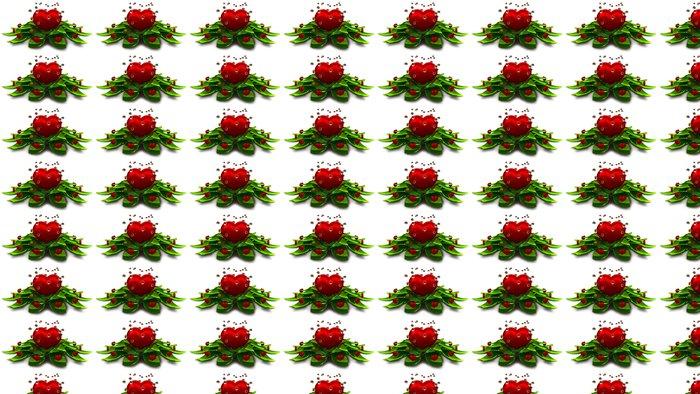 Vinylová Tapeta Květ ze srdce a listí - Značky a symboly