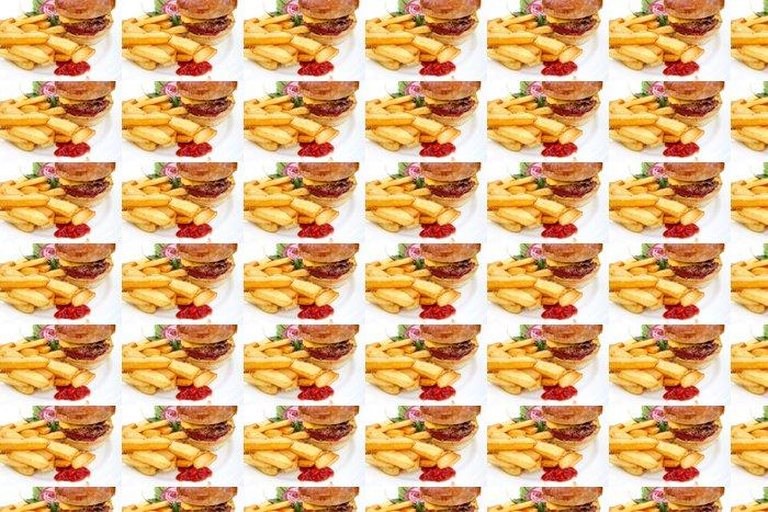 Vinylová Tapeta Americký sýr burger - Témata
