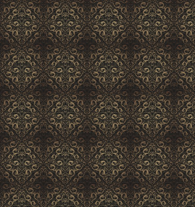 Vinylová Tapeta Floral seamless ornament - Struktury