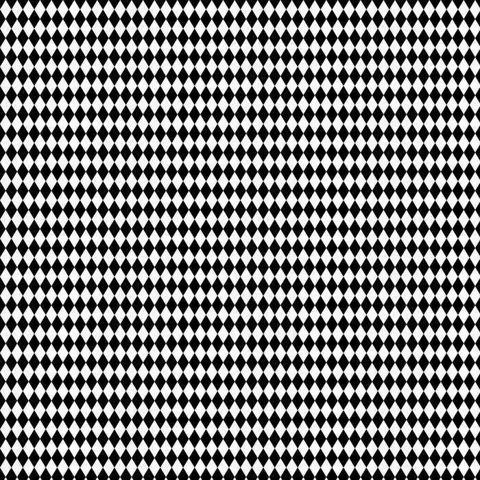 Vinylová Tapeta Black and White Diamond Tvar Fabric Background - Pozadí
