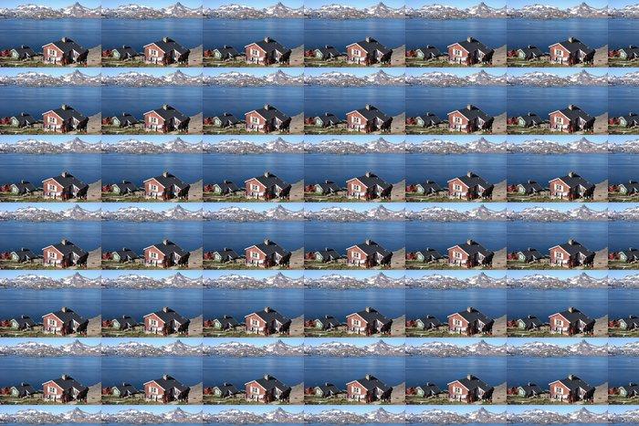 Vinylová Tapeta Domy na svahu oceánu - Severní a jižní pól