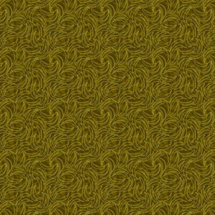 Vinylová Tapeta Žlutý banán obrys bezešvé - Umění a tvorba